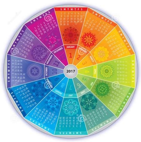 calendario-con-las-mandalas-en-colores-del-arco-iris-78559488